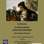 Conferencia en Córdoba sobre «El Gran Capitán caballero peregrino» por Isidro Rodriguez