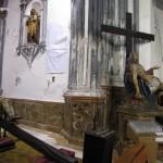 La iglesia parroquial de Santiago de Málaga cierra por obras