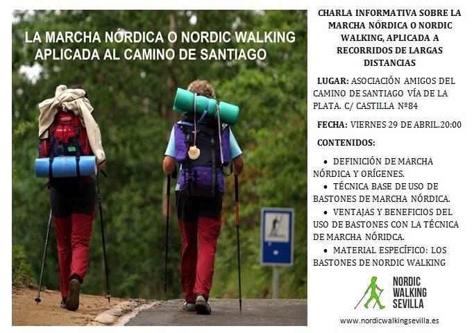 Charla informativa sobre marcha nórdica en la Asociación de Sevilla