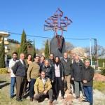 Se coloca oficialmente en Jaén el monumento del Camino Mozárabe de Santiago