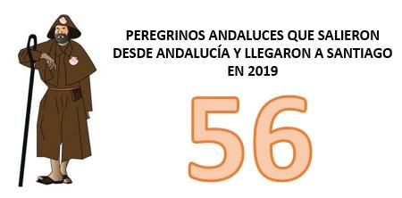 PEREGRINOS ANDALUCES QUE SALIERON DESDE ANDALUCIA Y LLEGARON A SANTIAGO ESTE AÑO