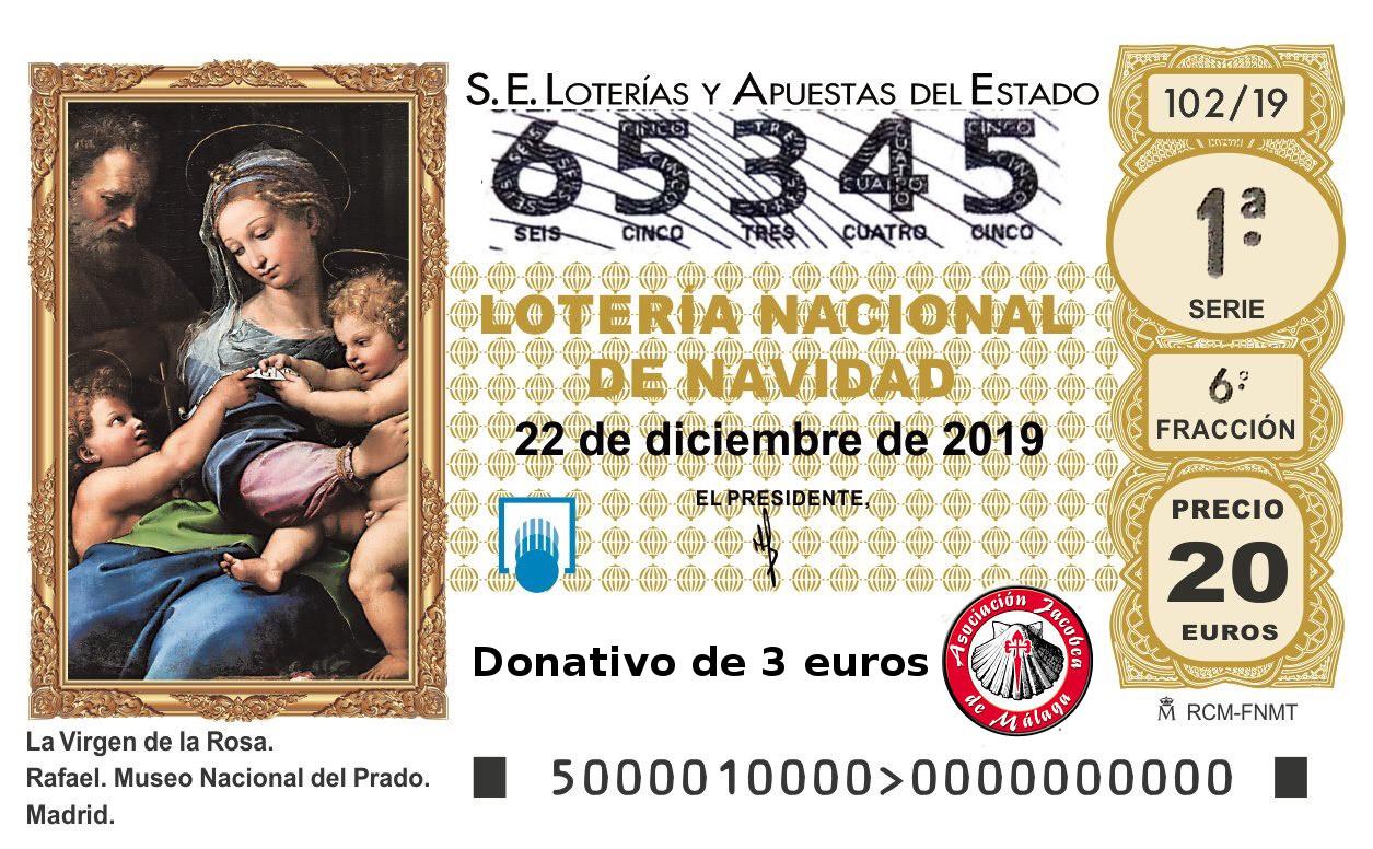 La Asociación Jacobea de Málaga ya tiene a la venta su lotería de navidad