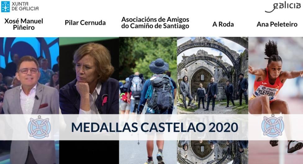 La Federación Española de Amigos del Camino de Santiago recibe la Medalla Castelao que concede la Xunta de Galicia