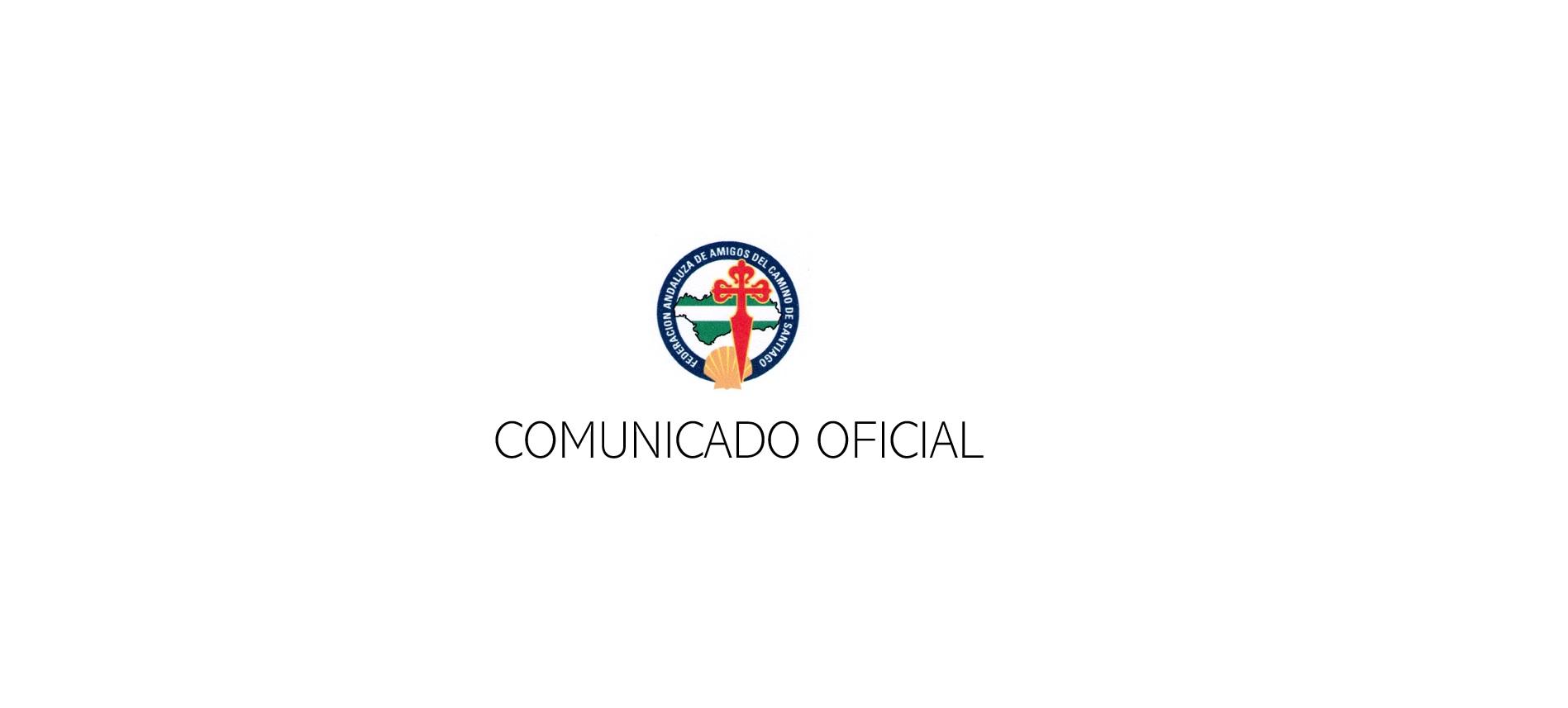 Comunicado de la Federación Andaluza de Asociaciones de Amigos del Camino de Santiago